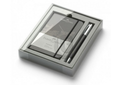 FABER-CASTELL ZESTAW UPOMINKOWY: DŁUGOPIS AMBITION RESIN BLACK  +  NOTES