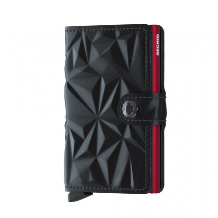 PORTFEL SECRID MINIWALLET PRISM BLACK-RED